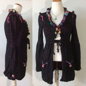 Nuvula Wear your imagination Knit Crocket Cardigan